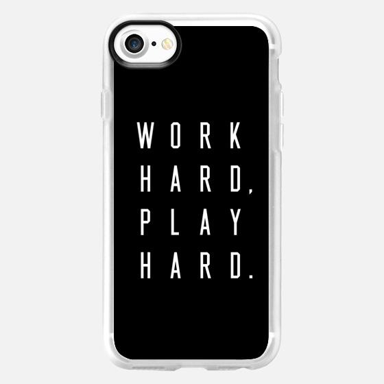 Work Hard Play Hard Black - Wallet Case