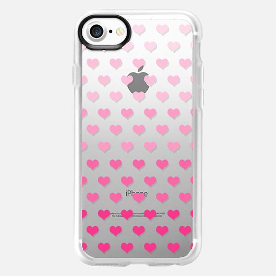 Ombre Hearts - Wallet Case