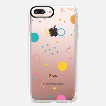iPhone 7 Plus Case Colorful Shapes (Clear)