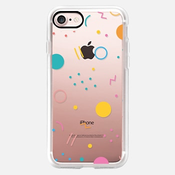 iPhone 7 ケース Colorful Shapes (Clear)