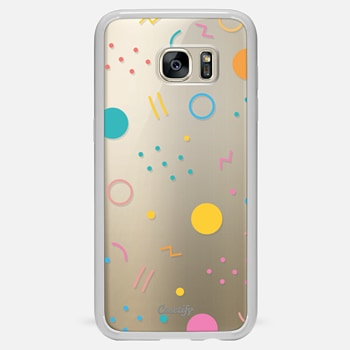 Samsung Galaxy S7 Edge เคส Colorful Shapes (Clear)