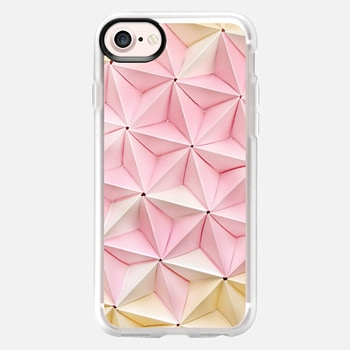 iPhone 7 Case Origami in Pastel Pink by Coco Sato