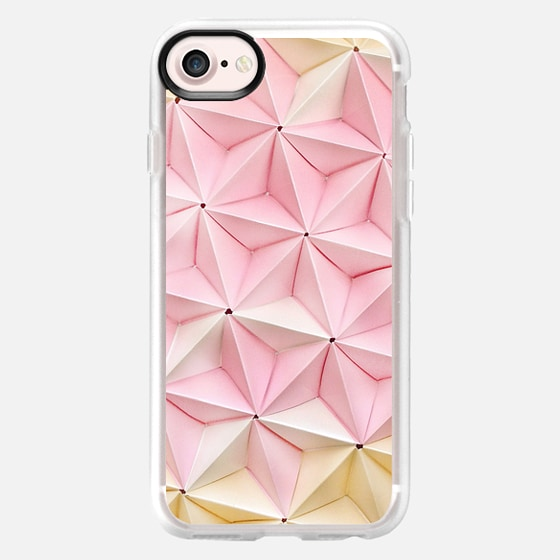 Origami in Pastel Pink by Coco Sato - Wallet Case