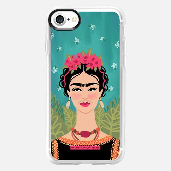 Frida Kahlo Colorful Mexican Folk Fashion Illustration Painting Rachillustrates Rachel Corcoran   - Wallet Case