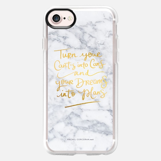 Modern Grey Marble and Gold Typography Inspirational Quote Fashion Rachillustrates Rachel Corcoran  -