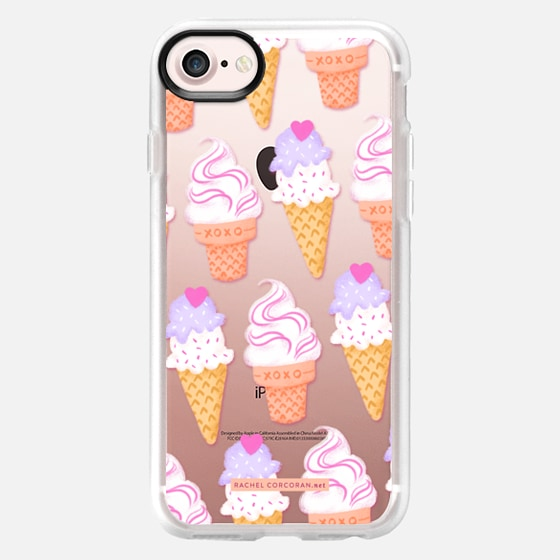 Ice Cream Sundae Sweet Cute Food Candy Pretty Pattern Rachel Corcoran Rachillustrates  - Wallet Case