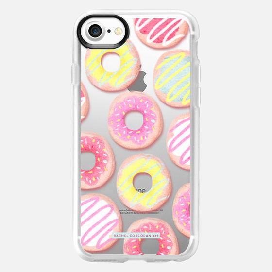 Donuts Pattern Sweets Cute Candy Food Dessert Rachillustrates Rachel Corcoran  - Wallet Case