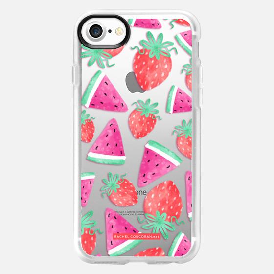 Watermelon Strawberry Fruit Summer Food Healthy Pattern Rachillustrates Rachel Corcoran - Wallet Case