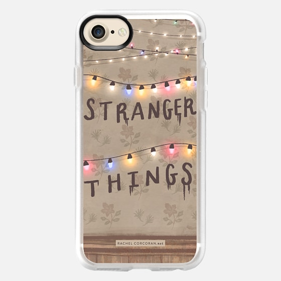 Stranger Things Illustration by Rachel Corcoran - Rachillustrates - 1980s Retro TV Show Christmas Holiday Lights - Wallet Case