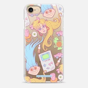 iPhone 7 Case 1990s Barbie Game Boy Candy Sweets Troll Throwback Pattern Rachillustrates Rachel Corcoran