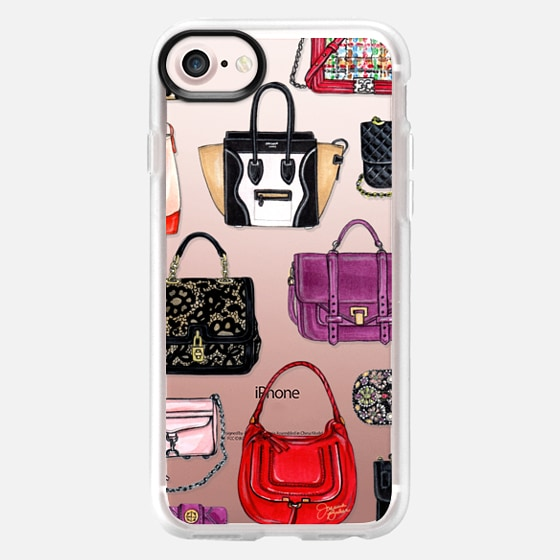It Bag Fashion Handbag Illustration by Joanna Baker - Classic Grip Case