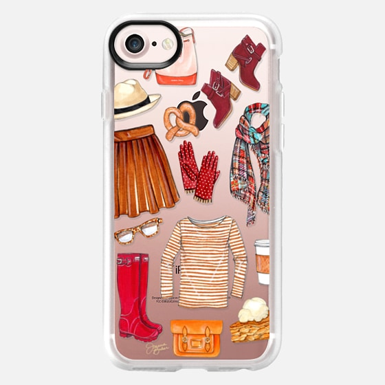 Fall Favorites Fashion Illustration by Joanna Baker - Classic Grip Case