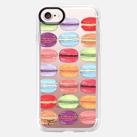Macaron Day Sweet Treat Illustration by Joanna Baker - Classic Grip Case