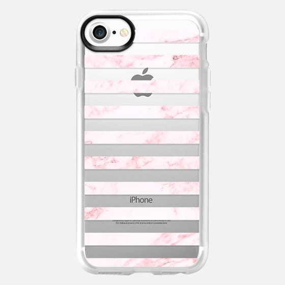 PINK MARBLE LINES - Classic Grip Case