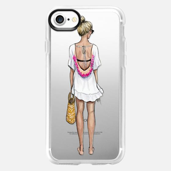Beach Bound Girl (Fashion Illustration) - Wallet Case