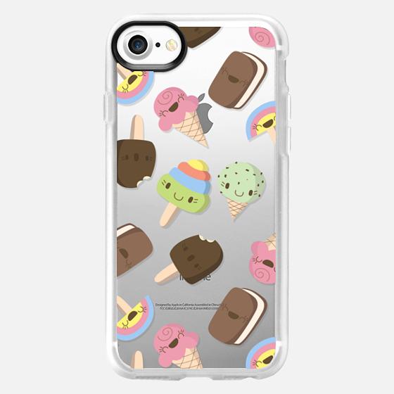 Cute Ice Cream Pattern - Wallet Case