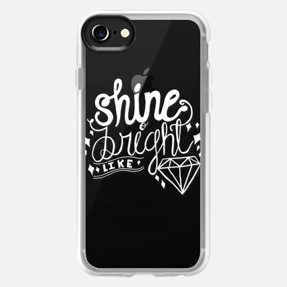SHINE BRIGHT LIKE DIAMOND (WHITE TEXT) - Wallet Case