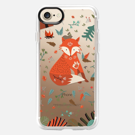 Camping With Fox - Wallet Case