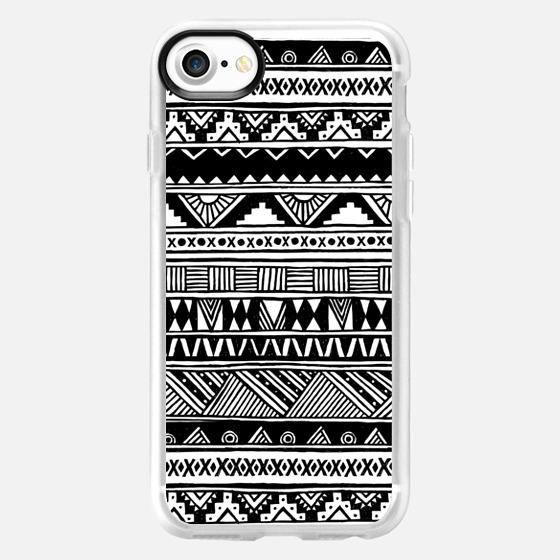 Cute Girly Black White Tribal Aztec Geometric Hand-drawn Pattern  - Wallet Case