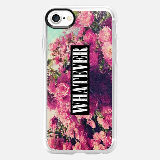 Pink Floral Flowers Roses 90s Vintage Grunge Rose Nirvana Whatever Design - Wallet Case