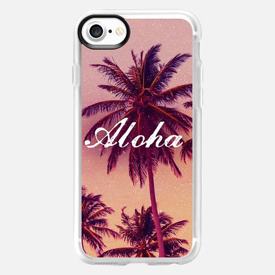 Cute Girly Tropical Aloha Summer Beach Palm Trees Vintage Hawaii  - Wallet Case