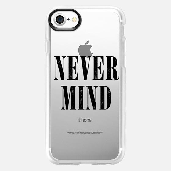 Transparent Black Grunge Nevermind Never Mind  -
