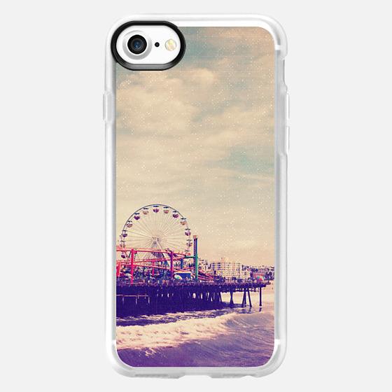 California Beach Ocean Ferris Wheel  - Wallet Case