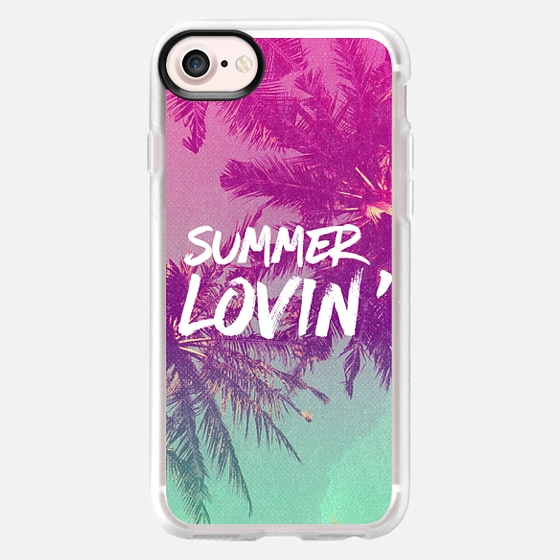 Pink Green Ombre Sunset Beach Tropical Palm Trees Summer Lovin'  - Wallet Case