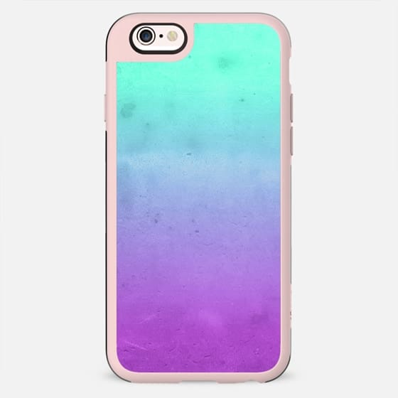 Cute Girly Colorful Purple Mint Turquoise Aqua Ombre Fade Gradient Grunge Texture -