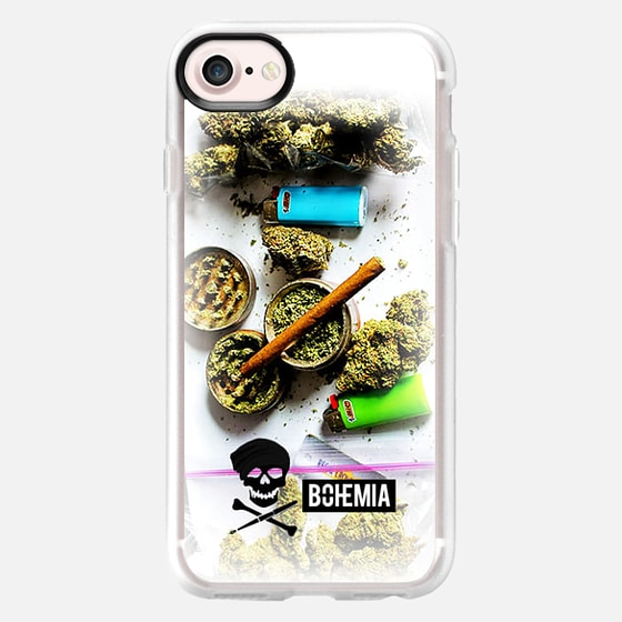 Bohemia Weed (iPhone 7) - Wallet Case