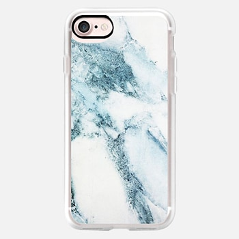 iPhone 7 ケース Oceanic Blue Green Marble