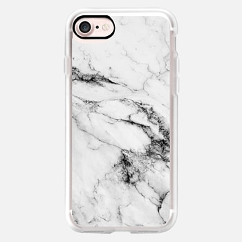 iPhone 7 ケース Black and White Marble