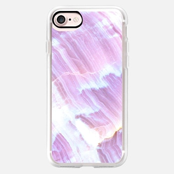 iPhone 7 ケース Purple White Marble