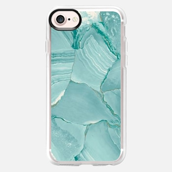 iPhone 7 เคส Teal Striped Marble