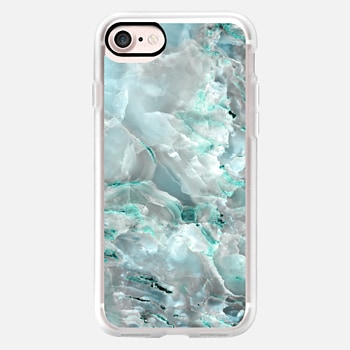 iPhone 7 ケース Teal Onyx Marble