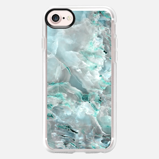 Teal Onyx Marble - Wallet Case