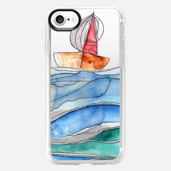 Sail Away with Me transparent iPhone case - Wallet Case
