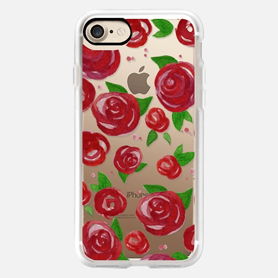 Red Roses Watercolor Phone Case -