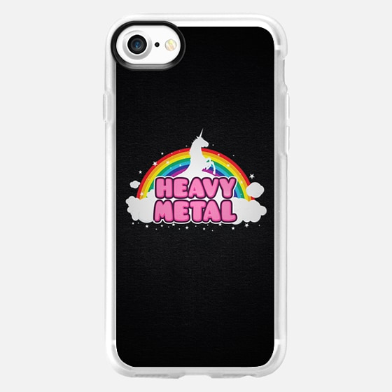 HEAVY METAL! (Funny Unicorn / Rainbow Mosh Parody Design) - Wallet Case