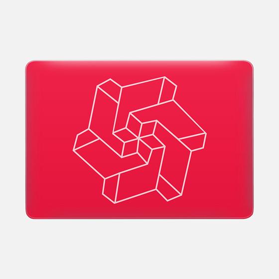 Minimal /  Chakra Symbol Art / Optical Illusion Star - Macbook Snap Case