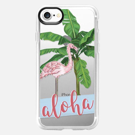flamingo aloha - Classic Grip Case