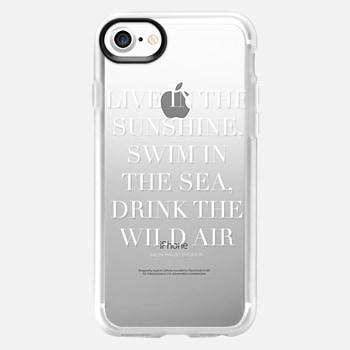 iPhone 7 Case Live in the sunshine white