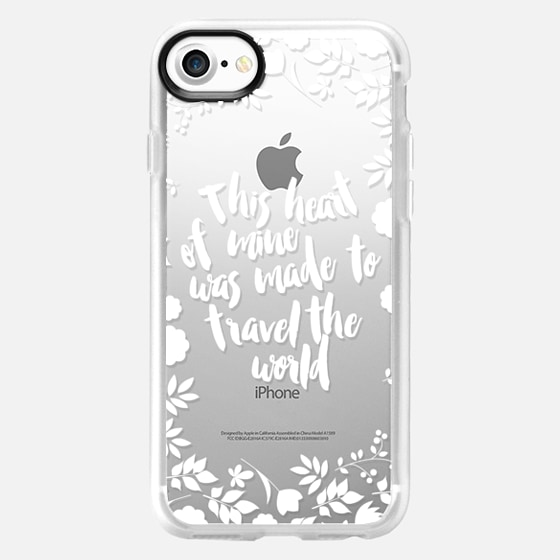 This heart of mine was made to travel the world white - Wallet Case