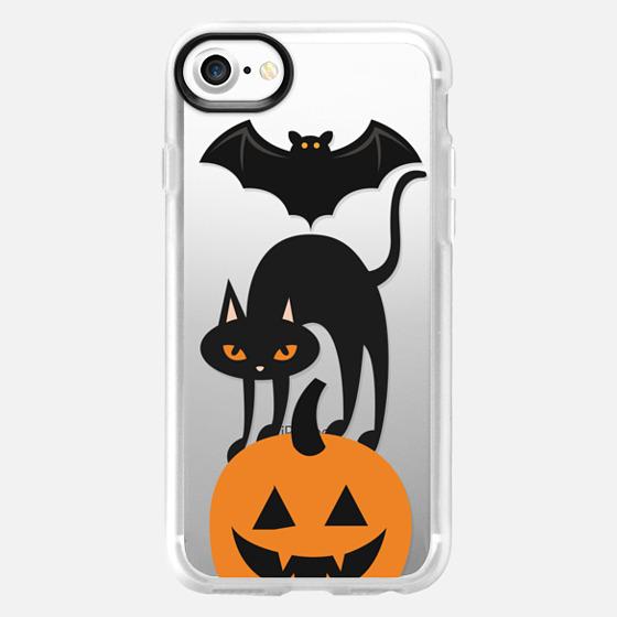 Bat, cat pumpkin totem - Wallet Case
