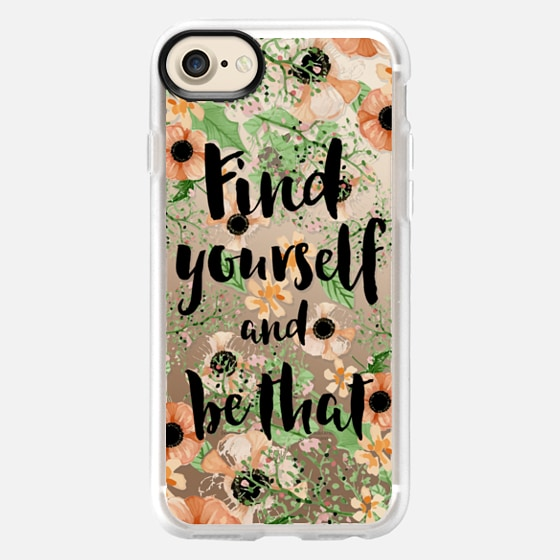 Find yourself and be that quote floral - Wallet Case