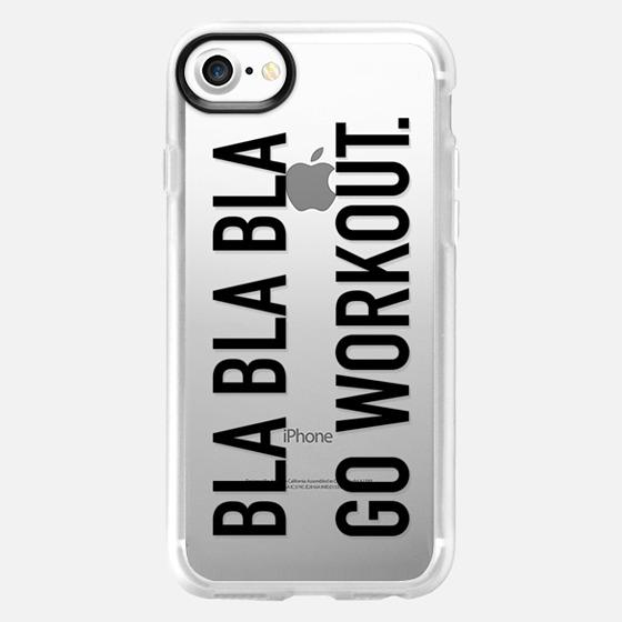 Bla bla bla go workout large black - Wallet Case