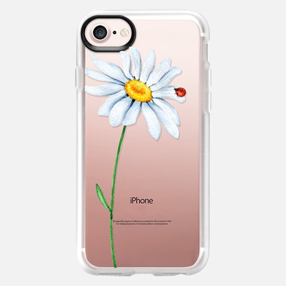 LADYBUG ON DAISY WATERCOLOR - Classic Grip Case