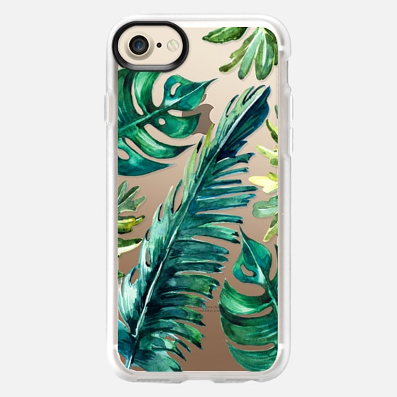 TROPICAL BANANA LEAVES WATERCOLOR - Classic Grip Case
