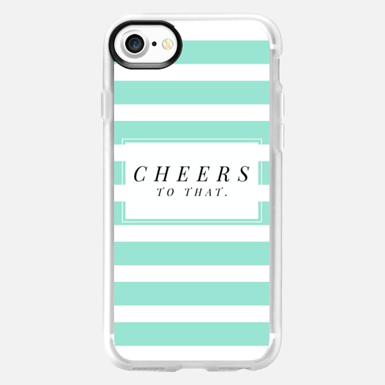 Cheers to that - stripe - Snap Case