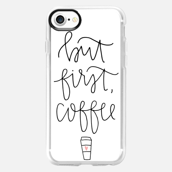 But first coffee - white + mug - Snap Case